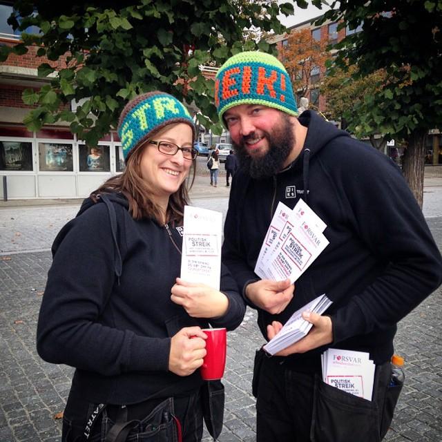 Politisk streik på Hamar