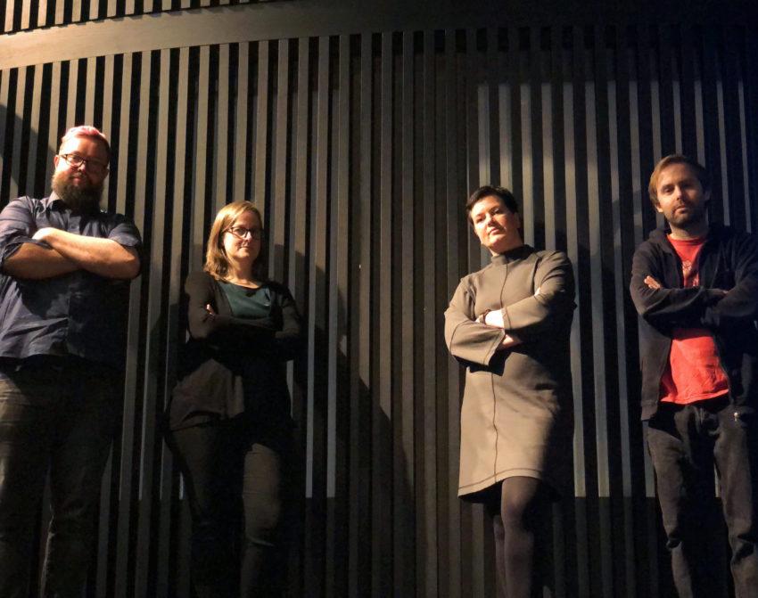 Forhandlingsdelegasjonen i Fase 3 2020 Ola Erik Blæsterdalen, Nora Hagen, Henriette Jevnaker og Kristoffer Ringerike
