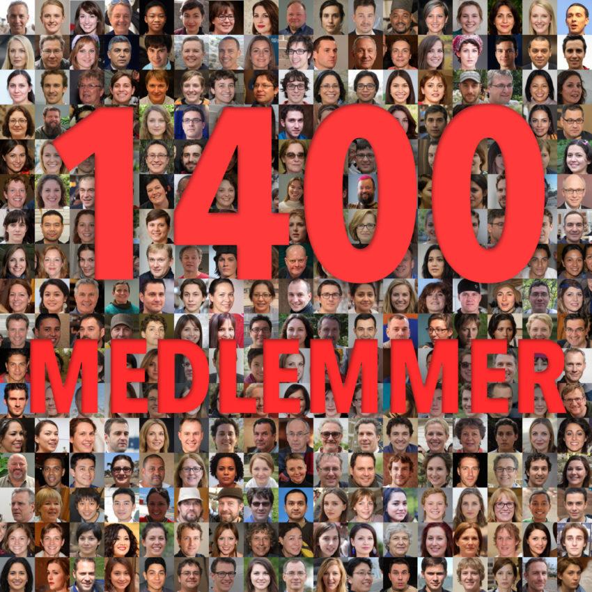 1400 medlemmer