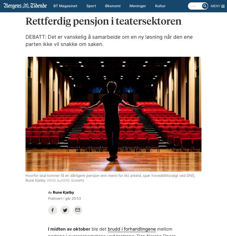 Debattinnlegg på Bergens Tidendes nettsider